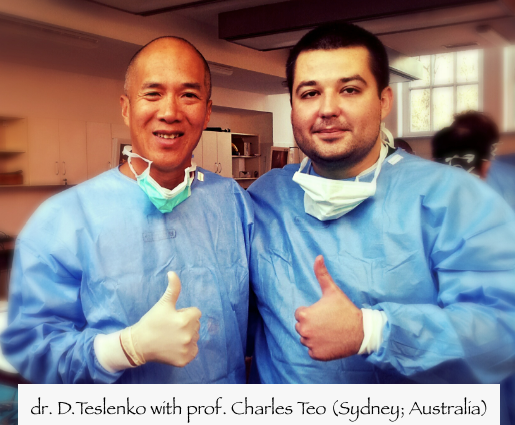 dr. D.Teslenko with prof. Charles Teo (Sydney; Australia)