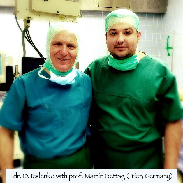 dr. D.Teslenko with prof. Martin Bettag (Trier; Germany)