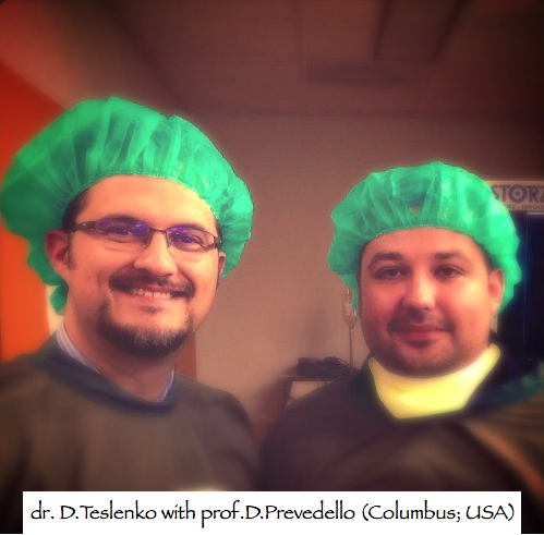 dr. D.Teslenko with prof. D.Prevedello (Columbus; USA)