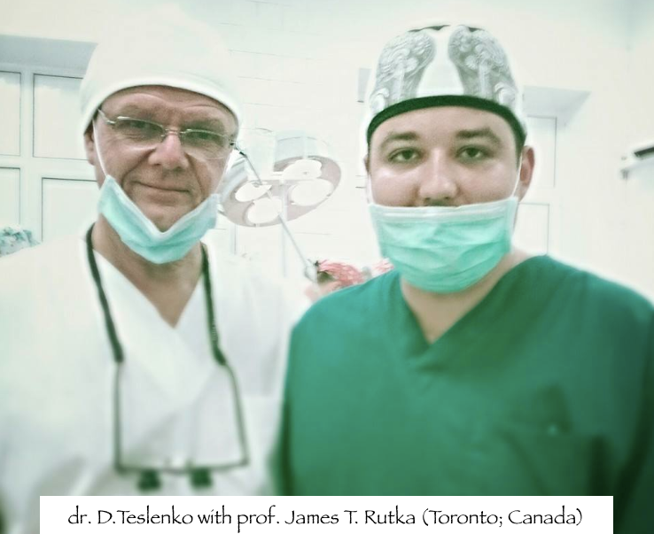 dr. D.Teslenko with prof. James T. Rutka